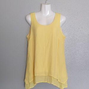 Ladies Yellow Sleeveless Blouse